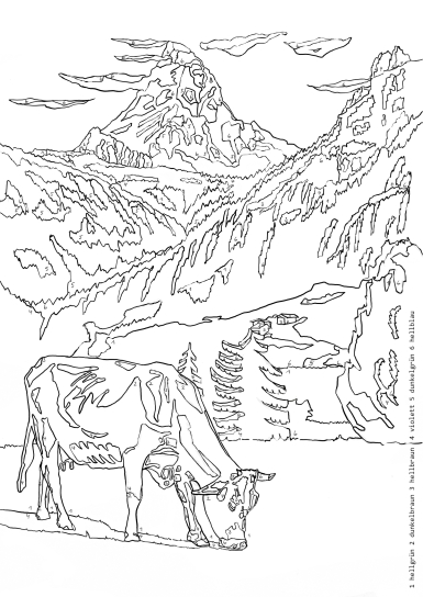 Ausmalbuch - Schweizer Idyll