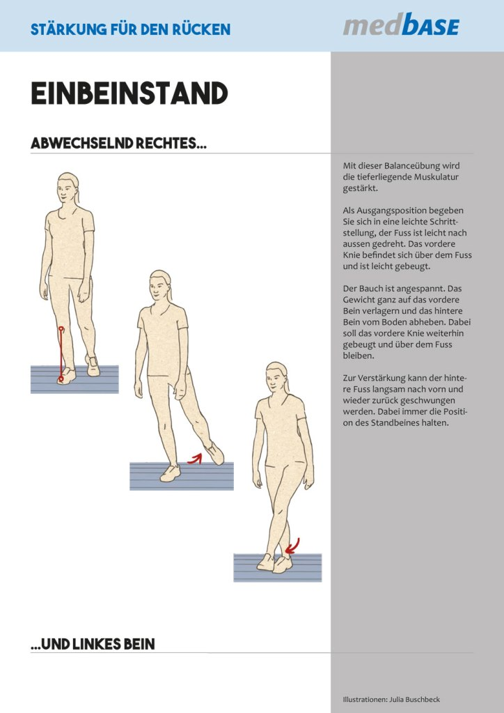 Medizin Physiotherapie Rückenschmerzen Übungen Balance