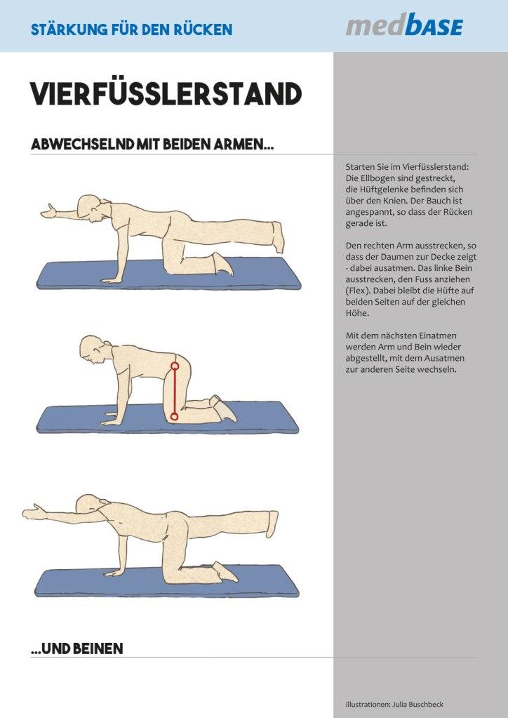 Medizin Physiotherapie Rückenschmerzen Übungen Rücken